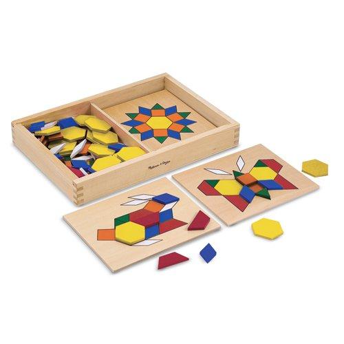 Pattern Blocks & Boards (125pcs)-0