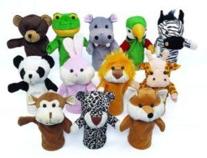 Animal Hand Puppets (12pcs)-0