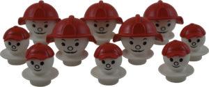 Mobilo Firemen & Helmets (10pcs)-0