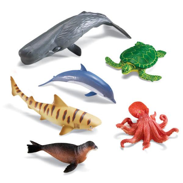 Jumbo Ocean Animals (6pcs)-13085