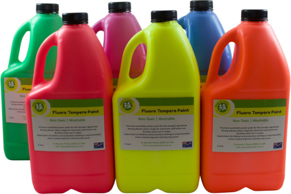 Fluoro Tempera Paint 2Ltr (6pcs)-0