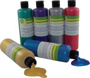 Tempera Metallic Paint 500ml (6pcs)-0