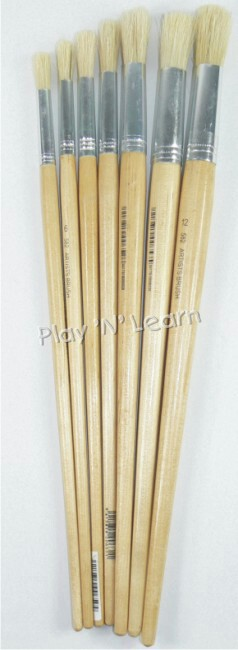 Artist Paint Brush Set Round (7pcs)-0