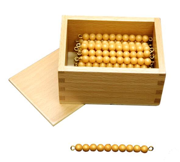 Box with 45 Ten Bars Individual Beads-9444