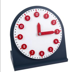 Clock with Movable Numbers & Hands-0