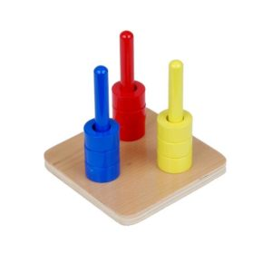 Coloured Discs on 3 Coloured Dowels-0