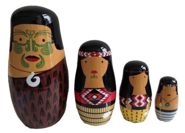 Maori Stacking Dolls (4pcs)-0