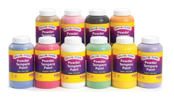 Tempera Powder Paint Set 1 Ltr (9pcs)-0