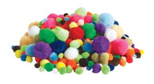 Assorted Pom Poms (1200pcs)-0
