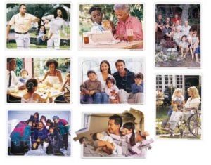 Multicultural Family Puzzles Set of 8-0