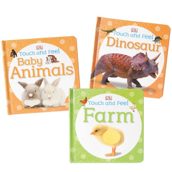 Animals Touch & Feel Books (3pcs)-0