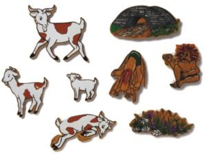 Three Billy Goats Gruff Magnetic Story (8pcs)-0