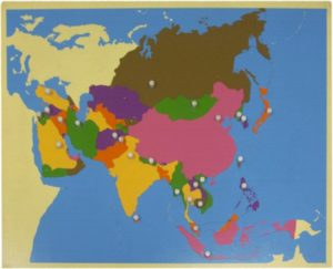 Puzzle Map of Asia-0