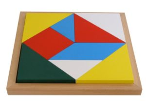 Geometric Shape Square Puzzle Tray (9pcs)-0