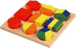 Coloured Fraction Puzzle (18pcs)-0