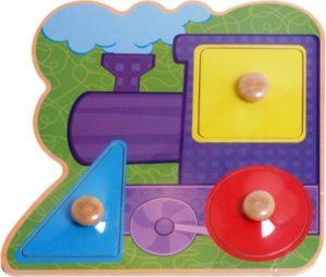 Tiny Tots Train Puzzle (3pcs)-0