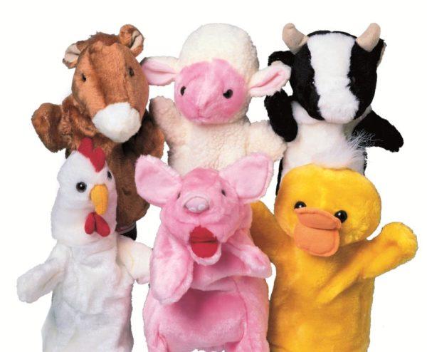 Farm Animals Puppets (6pcs)-0