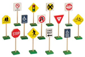 Wooden Traffic Signs (13pcs)-0