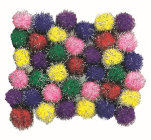 Glitter Pom Poms (200pcs)-0