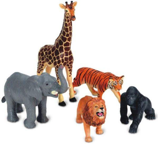 Jumbo Jungle Animals (5pcs)-6631