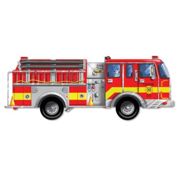 Giant Fire Truck Floor Puzzle (24pcs)-0