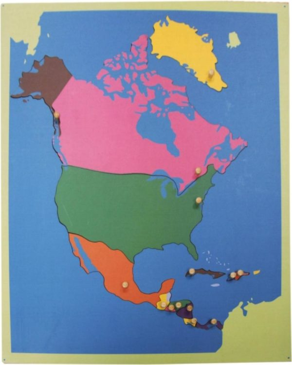 Puzzle Map of North America-0