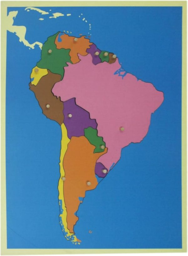 Puzzle Map of South America-0
