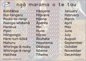 Months of the Year Poster Maori-0
