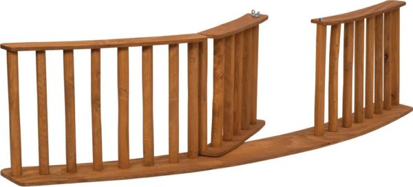 Rustic Fence Curved With Door 240x60cm-12232