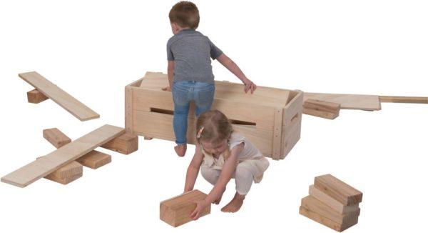 Natural Block & Planks Set (25pcs)-12652