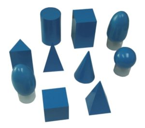 Blue Geometric Solids (10pcs)-0