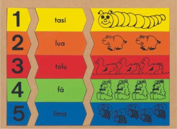1-5 Numbers Puzzle Samoan (15pcs)-0