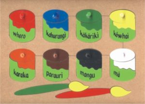 Colour Paint Pots Maori Puzzle (20pcs)-0