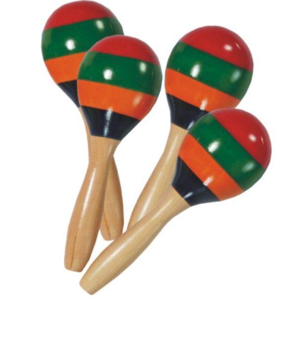 Mini Wooden Maracas (4pcs)-0