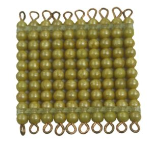 Golden Bead Square of 100 Individual Beads-0