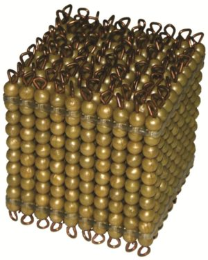 Golden Bead Cube of 1000 Individual Beads-0