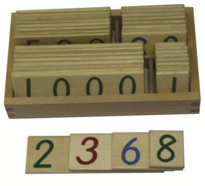 Wooden Number Cards 1-9000 Small with Box-0