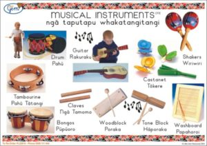 Musical Instruments ONE Poster Maori-0