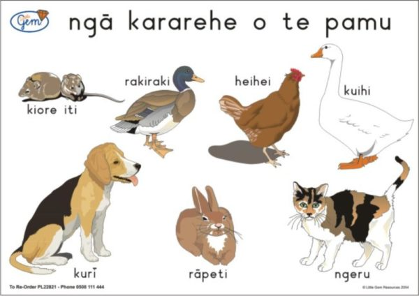 Farm Animals ONE Poster Maori-0