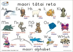 Maori Alphabet Poster-0