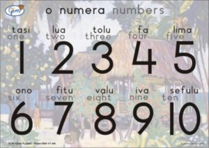 Numbers Poster Samoan-0