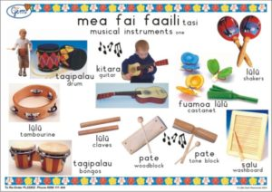 Music Instruments 1 Poster Samoan-0