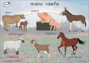 Four-footed Animals Poster Samoan-0