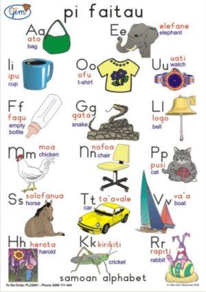 Samoan Alphabet Poster-0