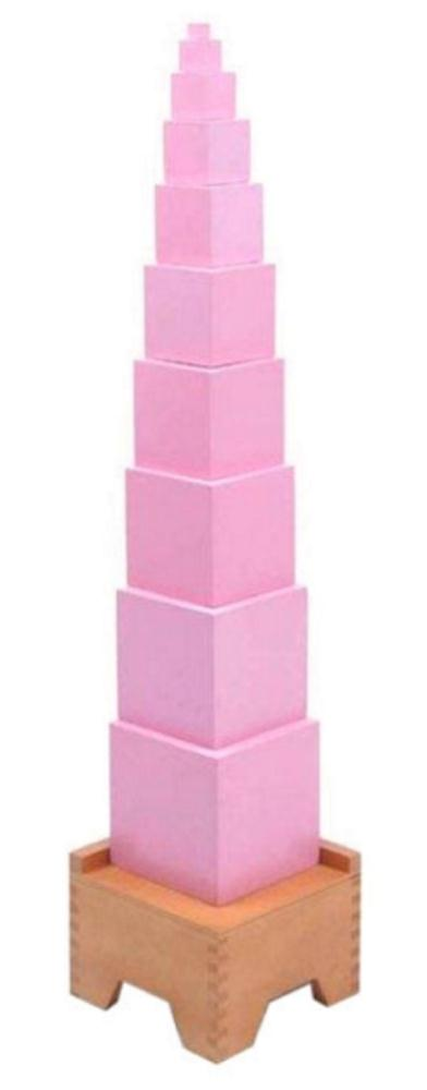 Pink Tower on Stand-0
