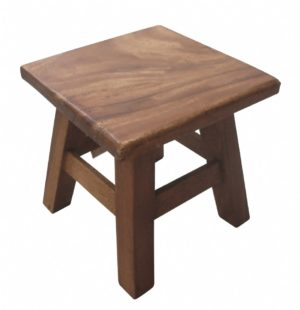 Wooden Square Stool-0