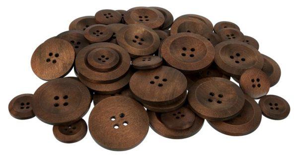 Assorted Wooden Buttons (50pcs)-0