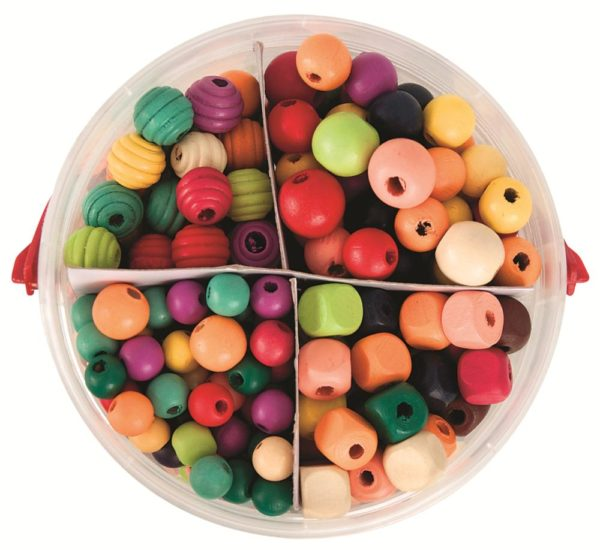 Wooden Lacing Beads 575g-0