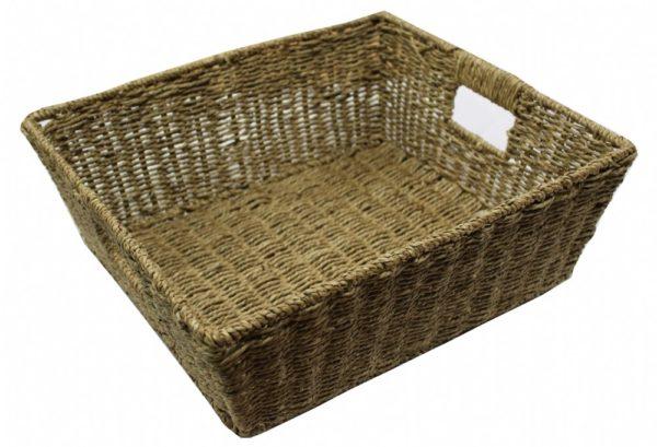 Medium Woven Basket with Handles-0