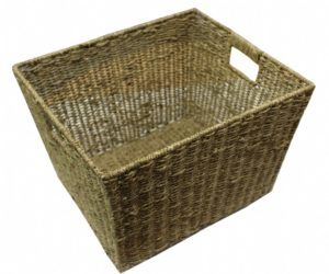 Large Woven Basket with Handles-0